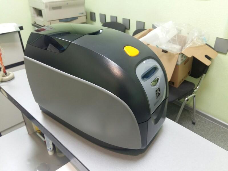 Принтер пластиковый карт Zebra ZXP 1 Б/У